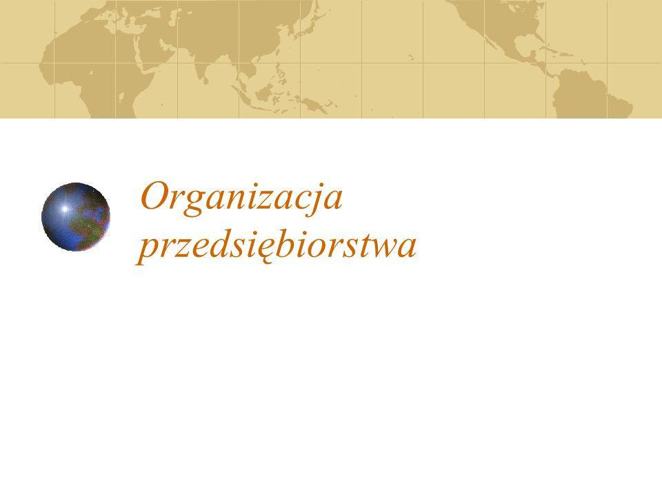 Organizacja przedsiębiorstwa