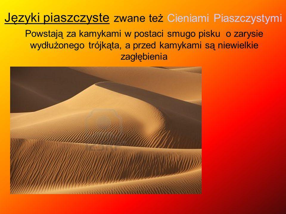 Języki piaszczyste zwane też Cieniami Piaszczystymi