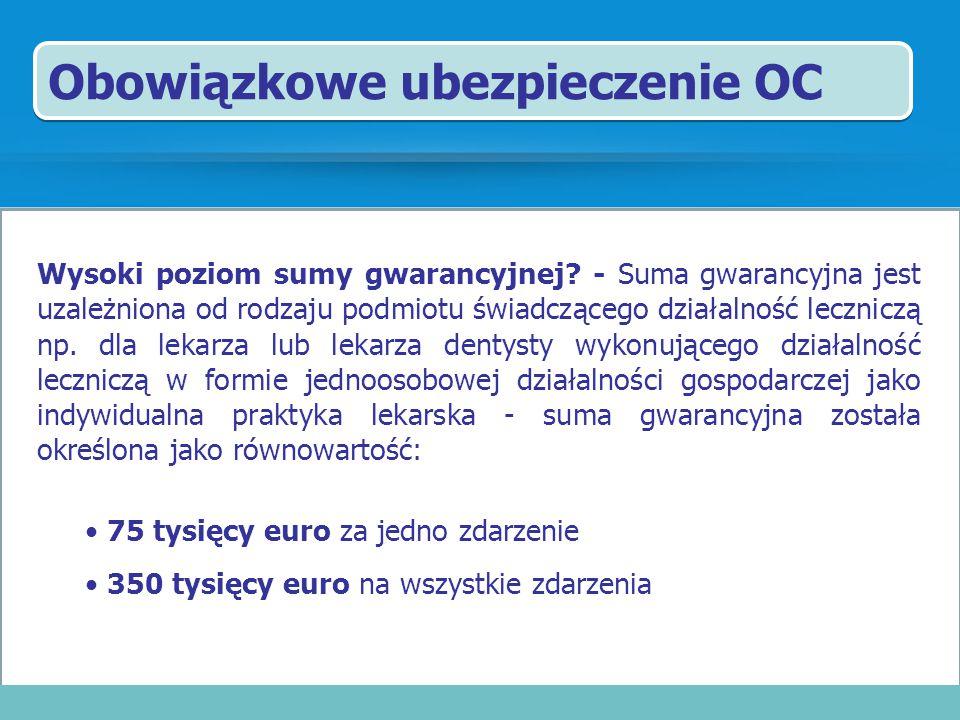 Obowiązkowe ubezpieczenie OC