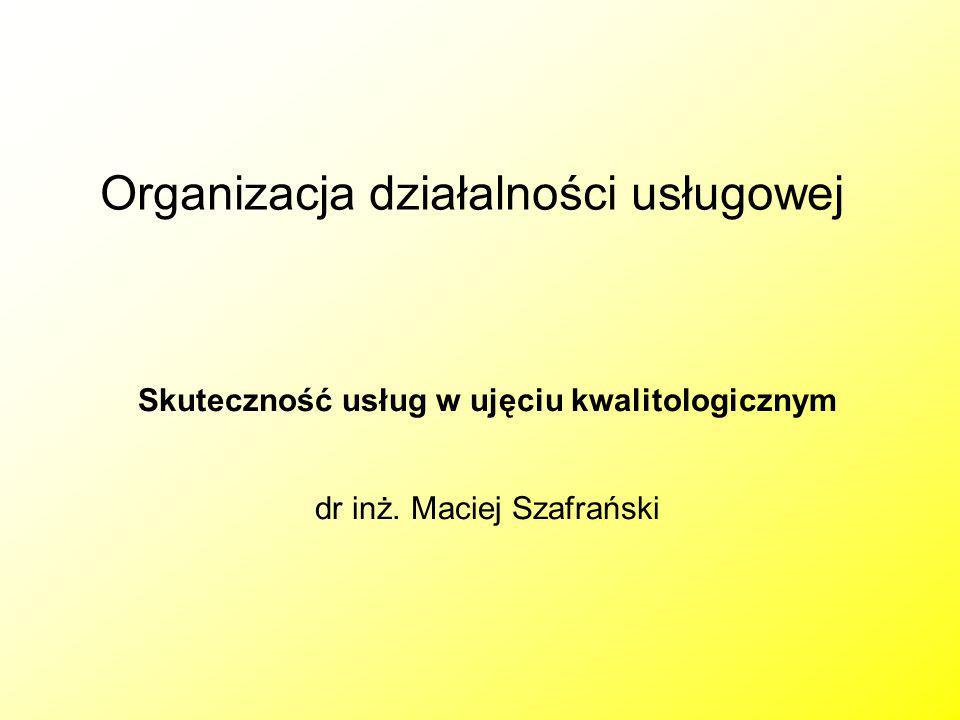 Organizacja działalności usługowej