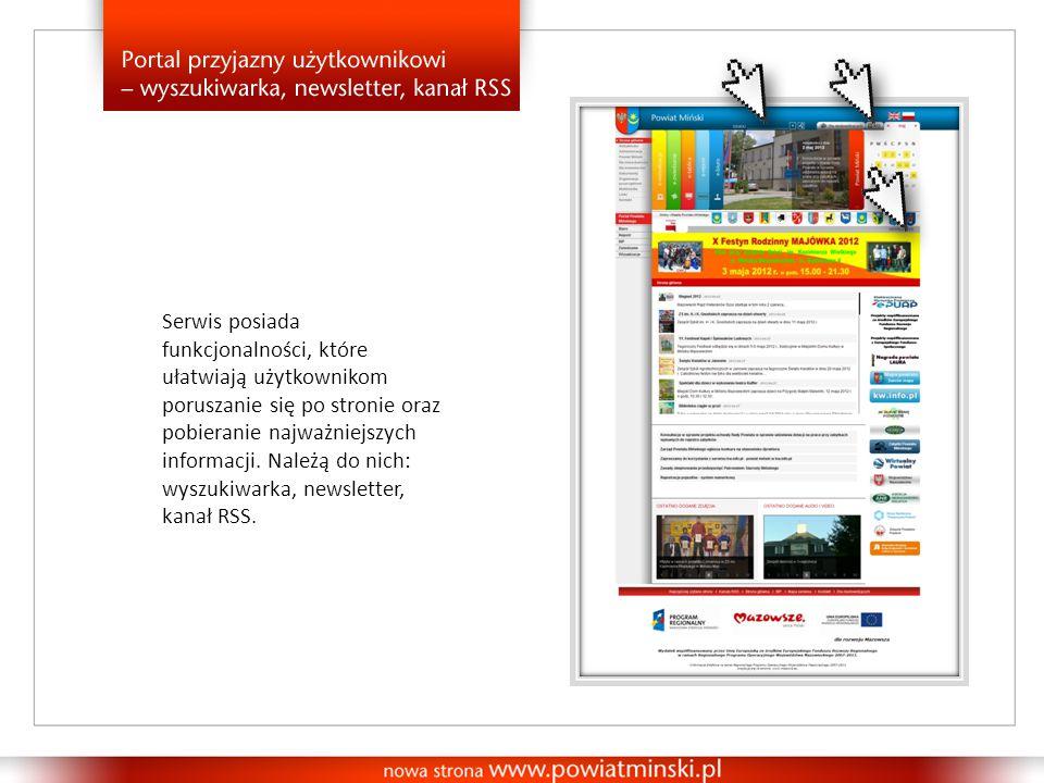 Serwis posiada funkcjonalności, które ułatwiają użytkownikom poruszanie się po stronie oraz pobieranie najważniejszych informacji.