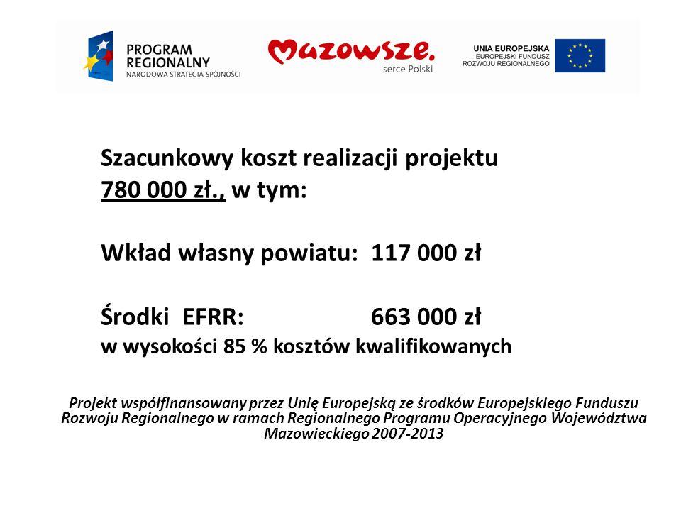 Szacunkowy koszt realizacji projektu 780 000 zł