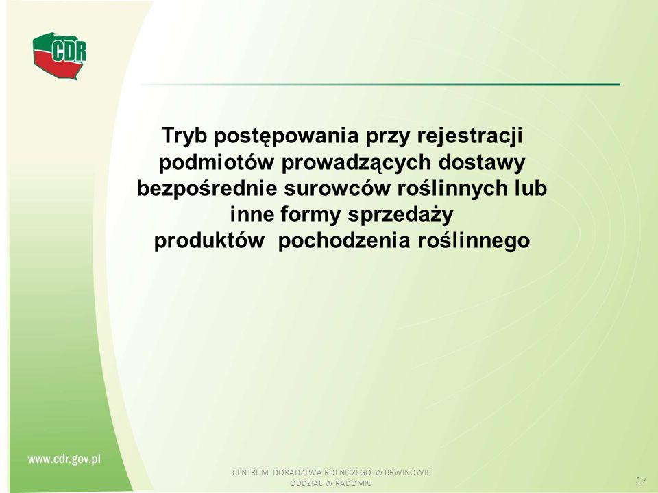 produktów pochodzenia roślinnego