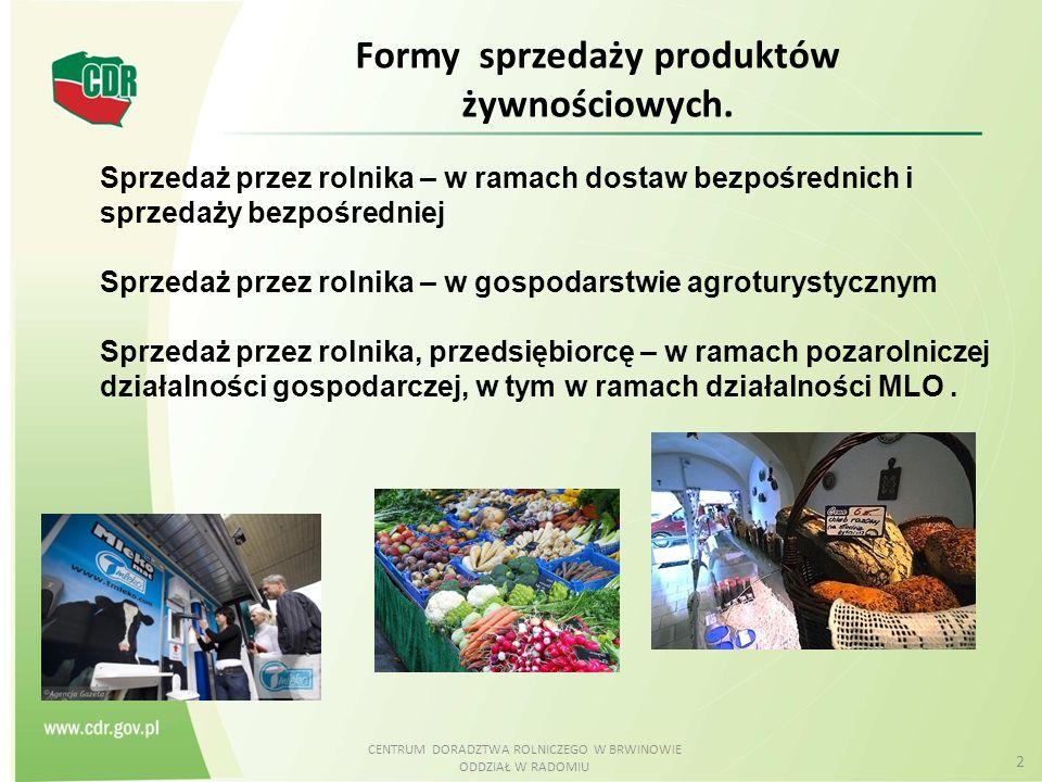 Formy sprzedaży produktów żywnościowych.