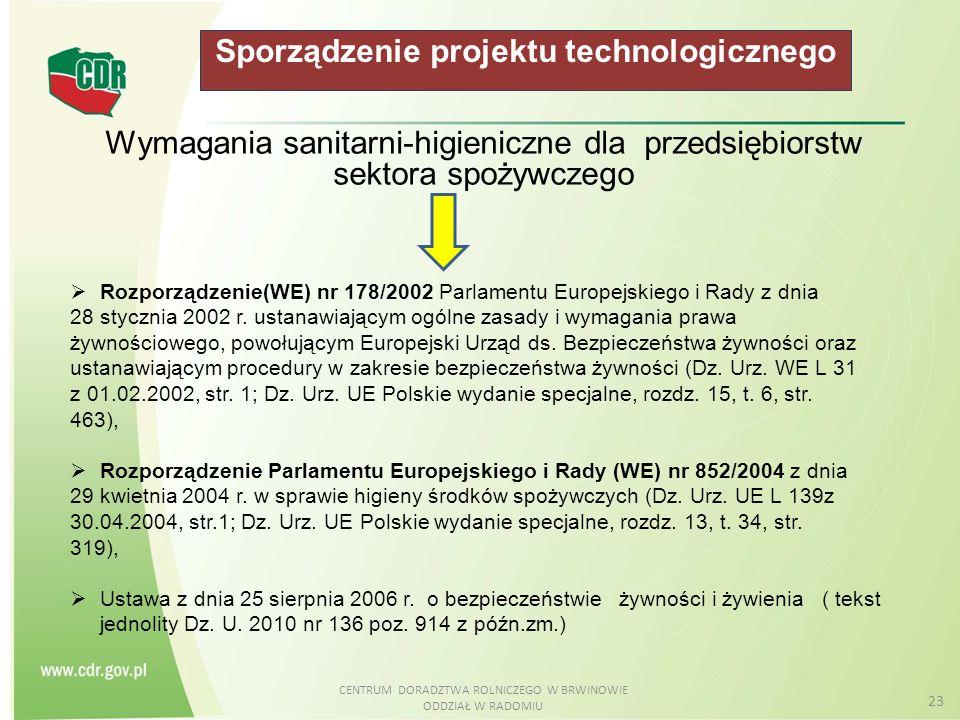 Sporządzenie projektu technologicznego