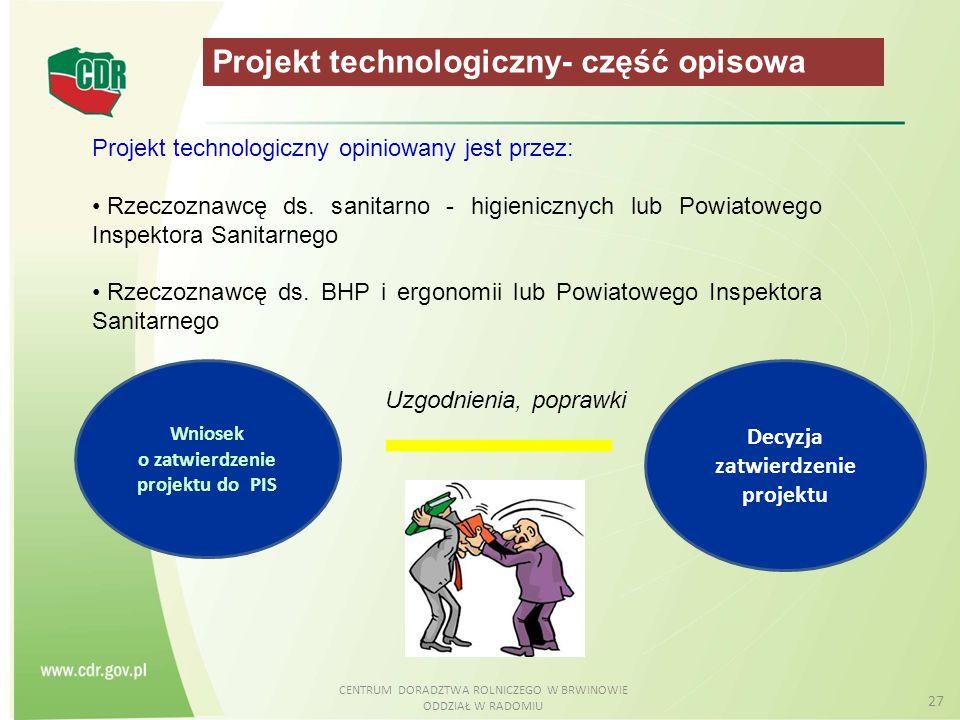 o zatwierdzenie projektu do PIS Decyzja zatwierdzenie projektu