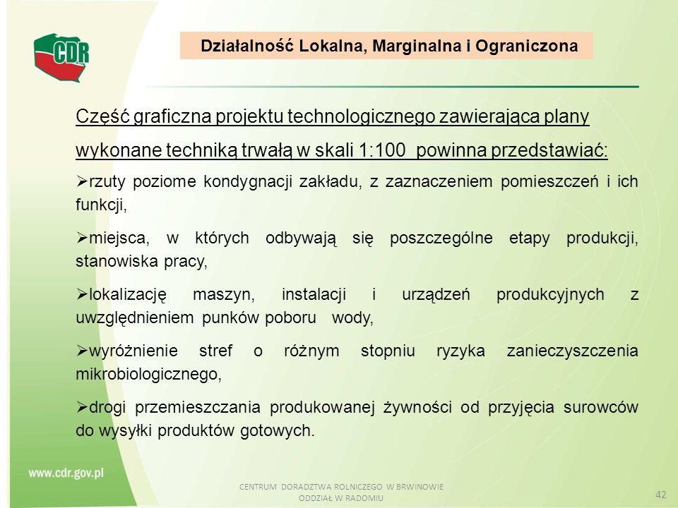 Działalność Lokalna, Marginalna i Ograniczona