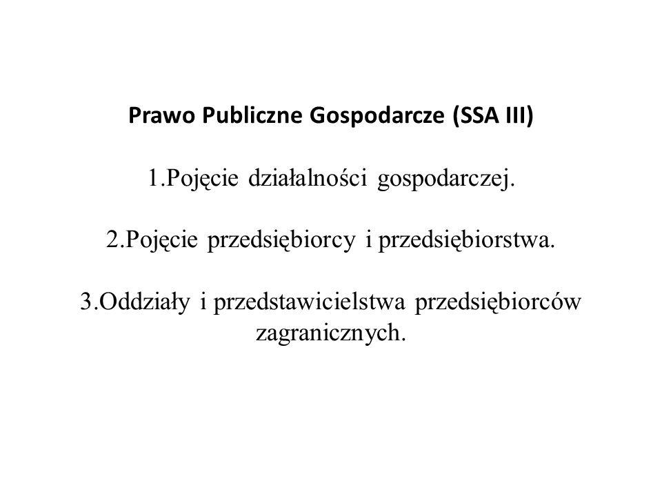 Prawo Publiczne Gospodarcze (SSA III) 1