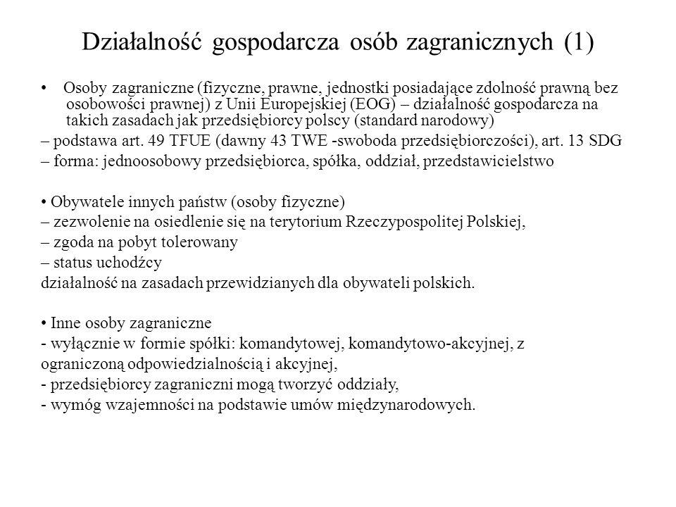 Działalność gospodarcza osób zagranicznych (1)