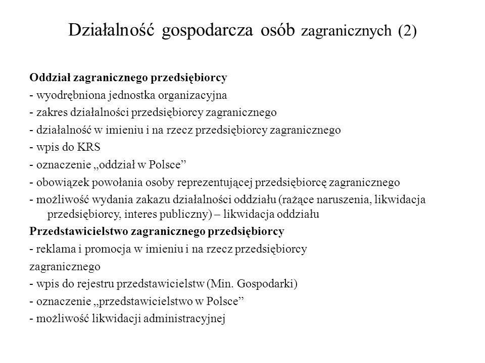 Działalność gospodarcza osób zagranicznych (2)