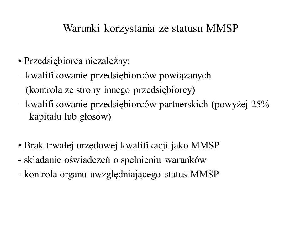 Warunki korzystania ze statusu MMSP
