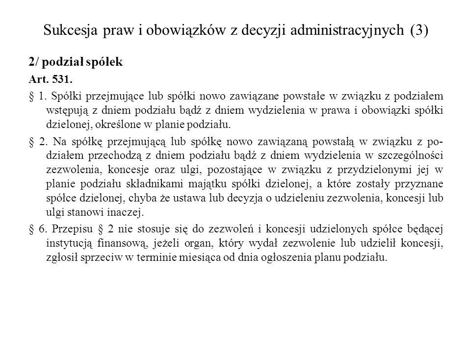 Sukcesja praw i obowiązków z decyzji administracyjnych (3)
