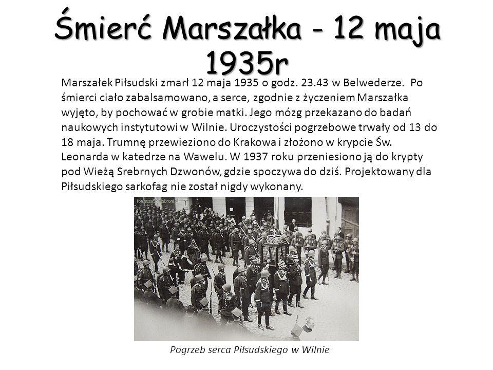 Śmierć Marszałka - 12 maja 1935r