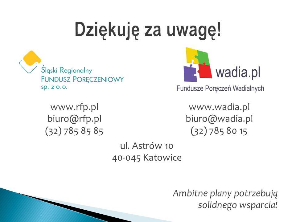 Dziękuję za uwagę! www.rfp.pl biuro@rfp.pl www.wadia.pl biuro@wadia.pl