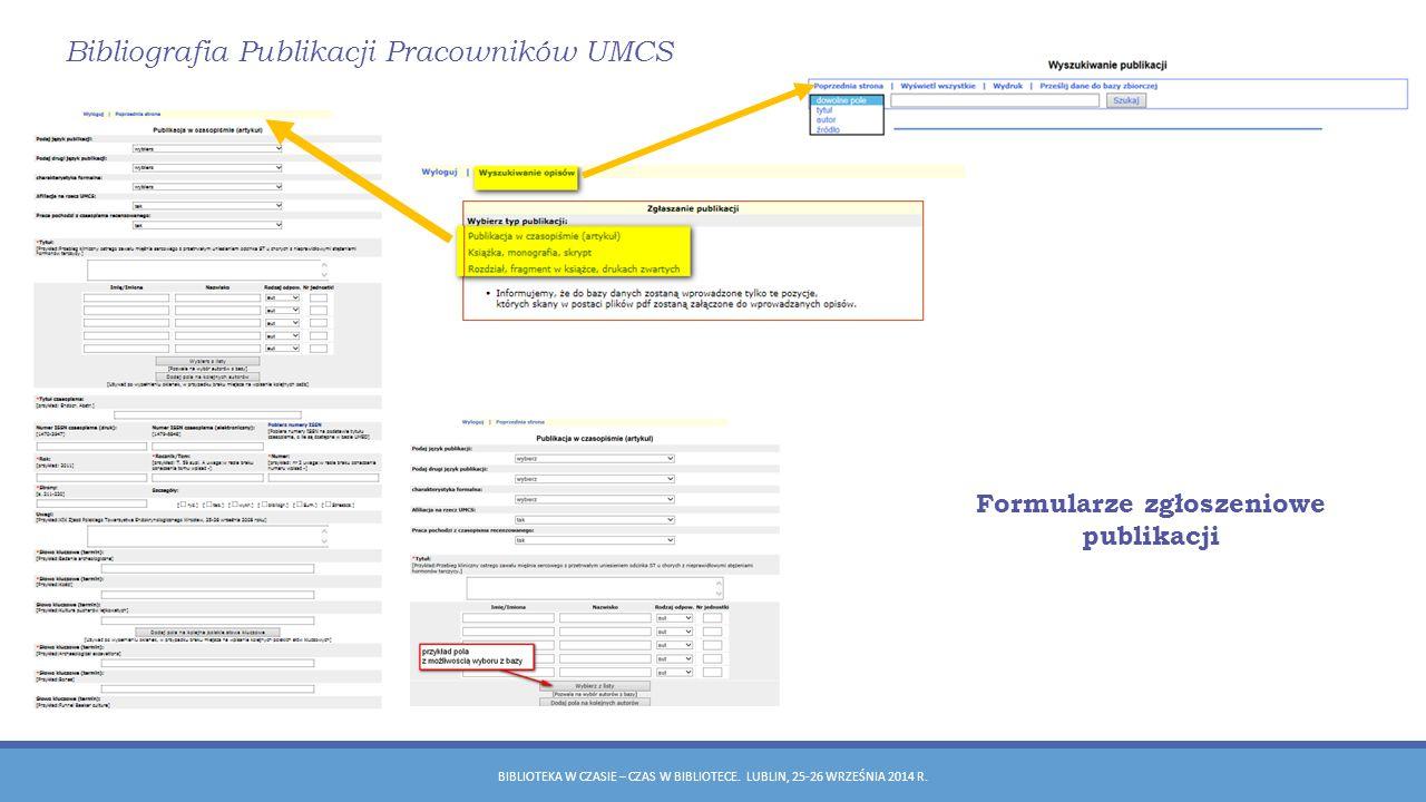 Formularze zgłoszeniowe publikacji