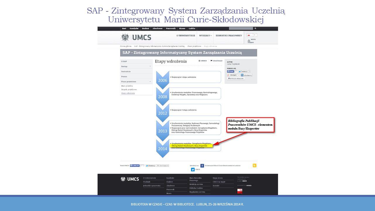 SAP - Zintegrowany System Zarządzania Uczelnią