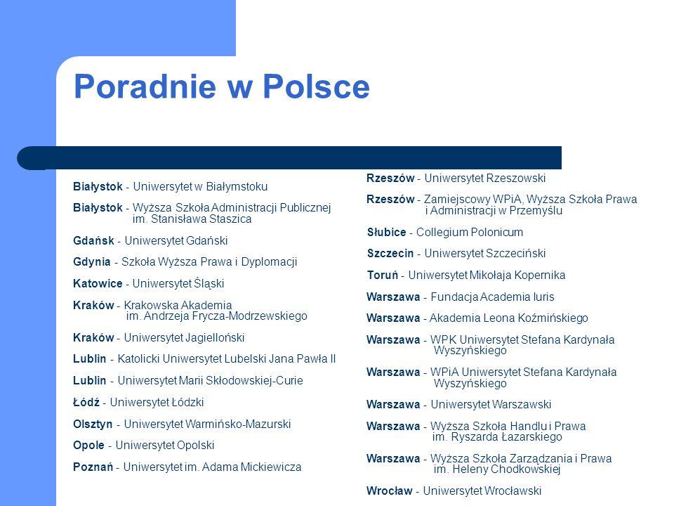 Poradnie w Polsce Rzeszów - Uniwersytet Rzeszowski