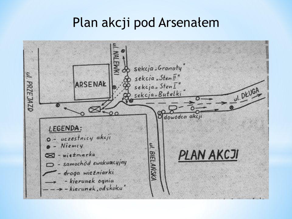 Plan akcji pod Arsenałem