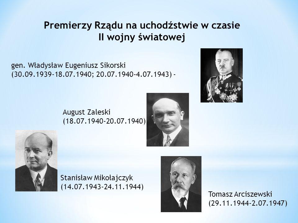 Premierzy Rządu na uchodźstwie w czasie II wojny światowej