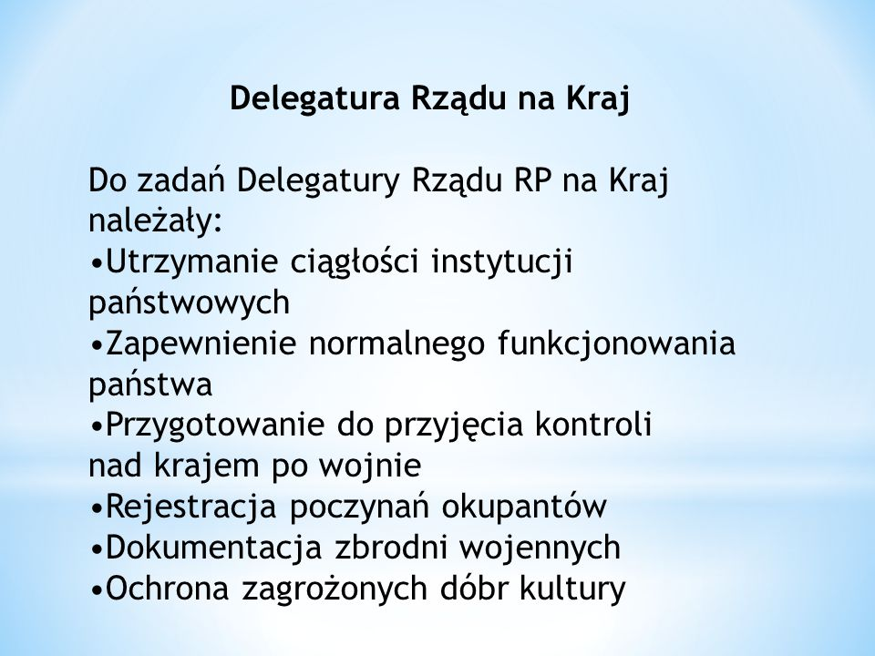 Delegatura Rządu na Kraj