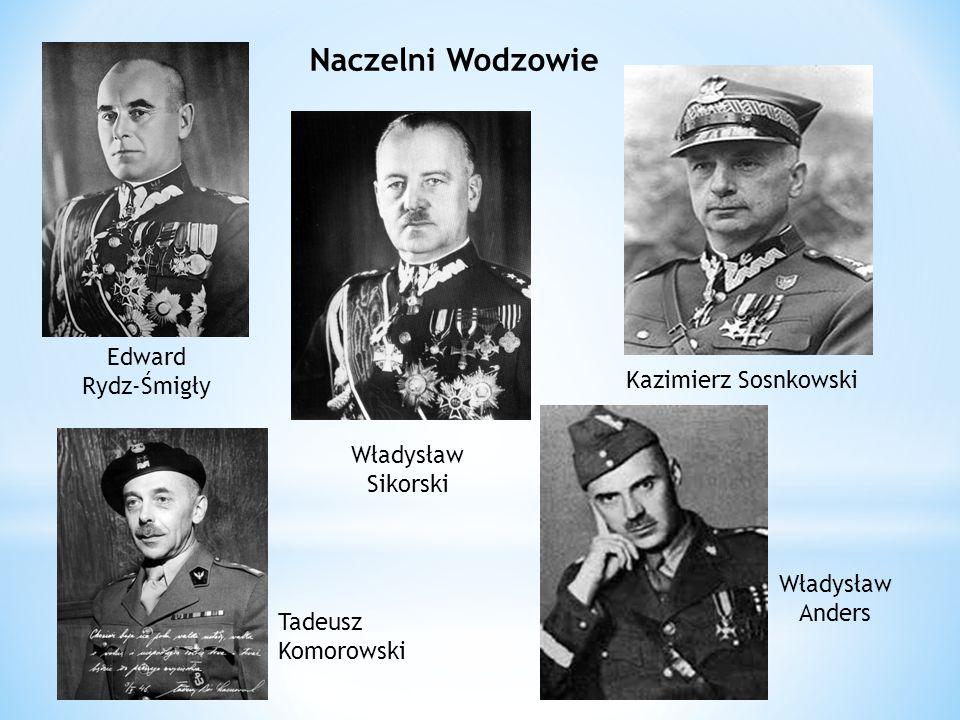 Naczelni Wodzowie Edward Rydz-Śmigły Kazimierz Sosnkowski