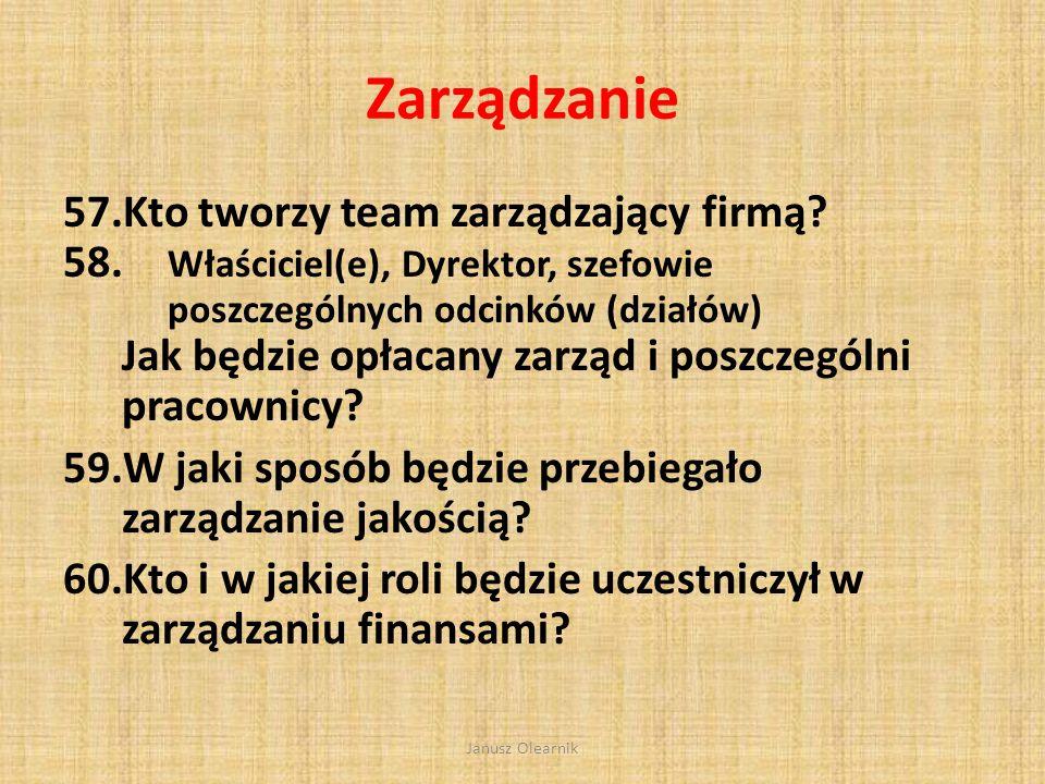 Zarządzanie Kto tworzy team zarządzający firmą