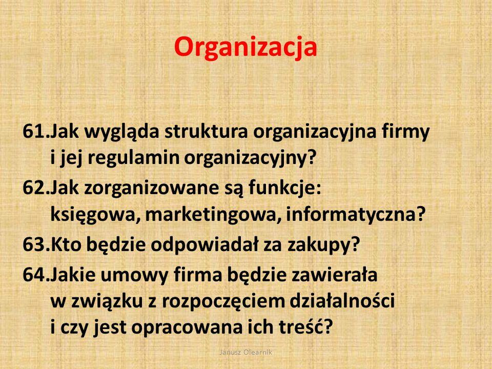 Organizacja Jak wygląda struktura organizacyjna firmy i jej regulamin organizacyjny
