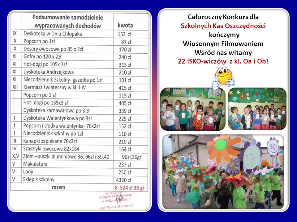 Całoroczny Konkurs dla Szkolnych Kas Oszczędności kończymy