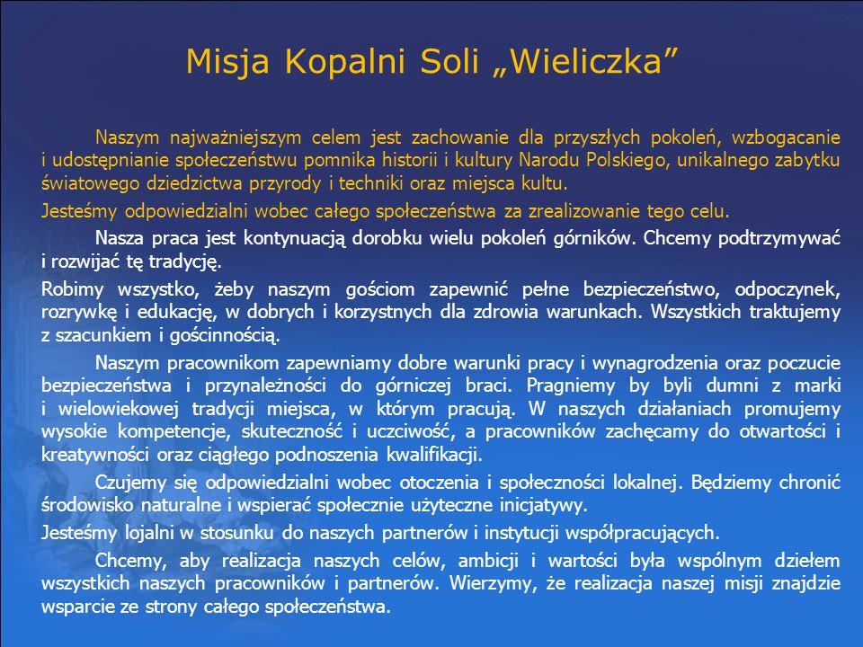 """Misja Kopalni Soli """"Wieliczka"""