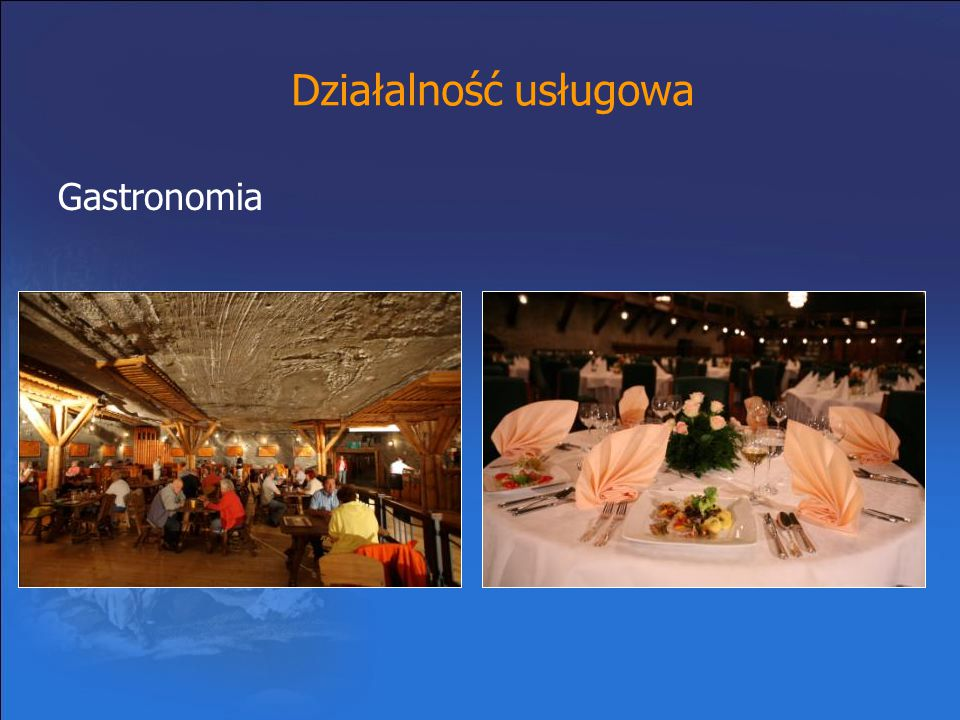 Działalność usługowa Gastronomia