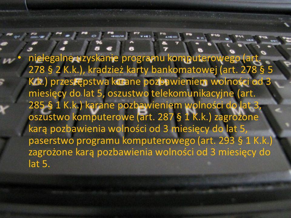 nielegalne uzyskanie programu komputerowego (art. 278 § 2 K. k