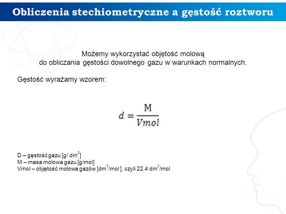 Obliczenia stechiometryczne a gęstość roztworu