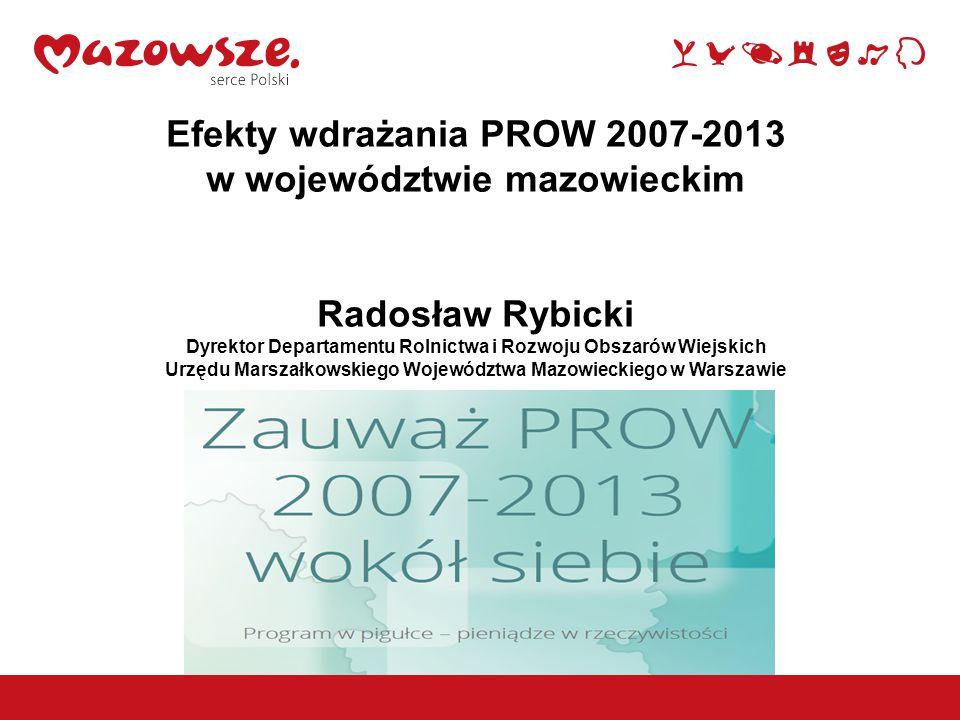Efekty wdrażania PROW 2007-2013 w województwie mazowieckim