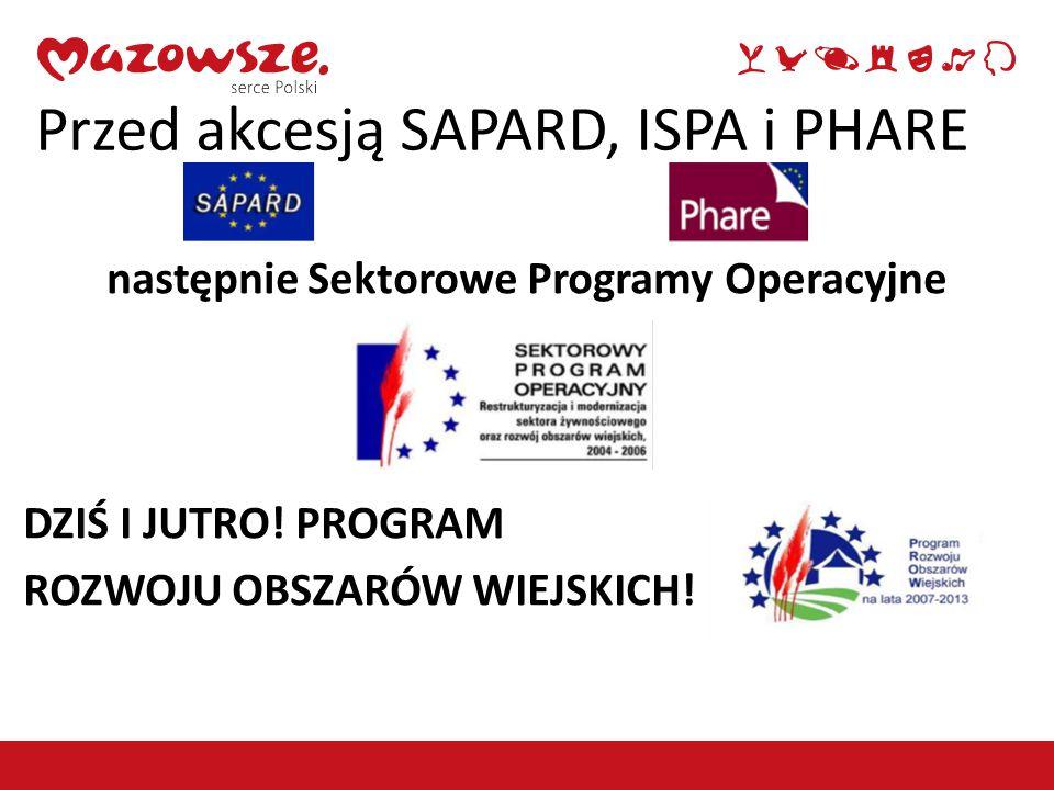 Przed akcesją SAPARD, ISPA i PHARE