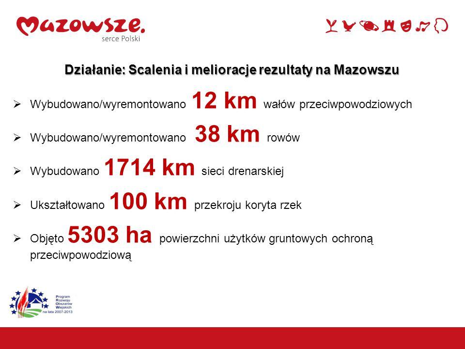 Działanie: Scalenia i melioracje rezultaty na Mazowszu