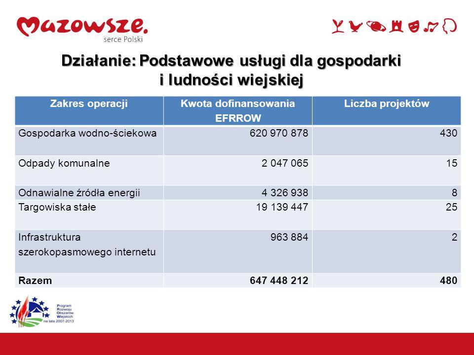 Działanie: Podstawowe usługi dla gospodarki i ludności wiejskiej