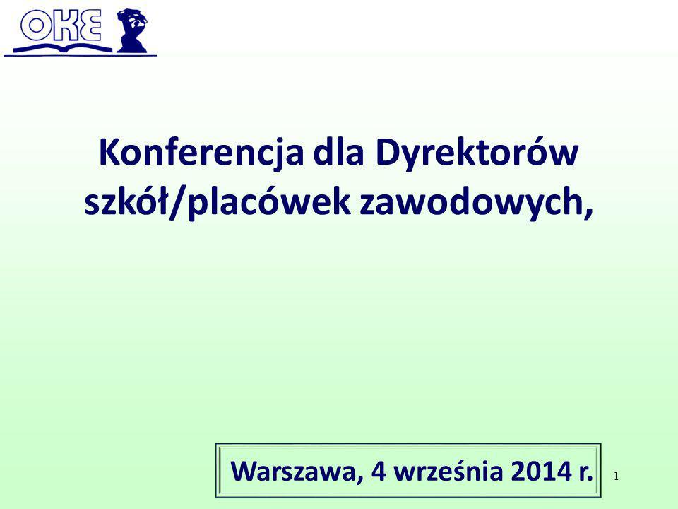 Konferencja dla Dyrektorów szkół/placówek zawodowych,