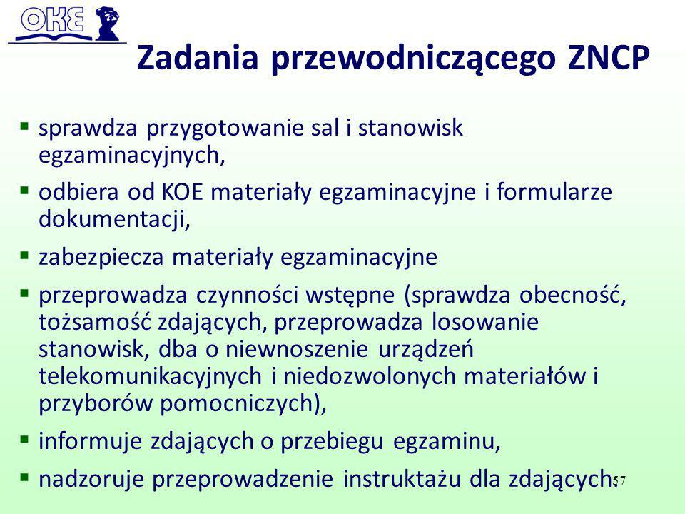 Zadania przewodniczącego ZNCP