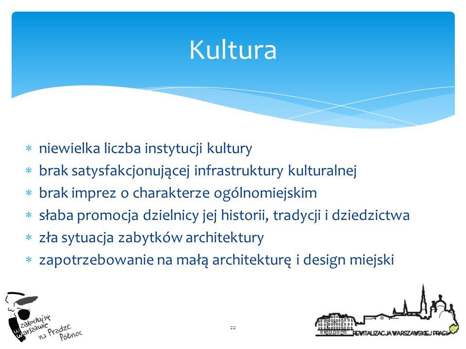 Kultura niewielka liczba instytucji kultury