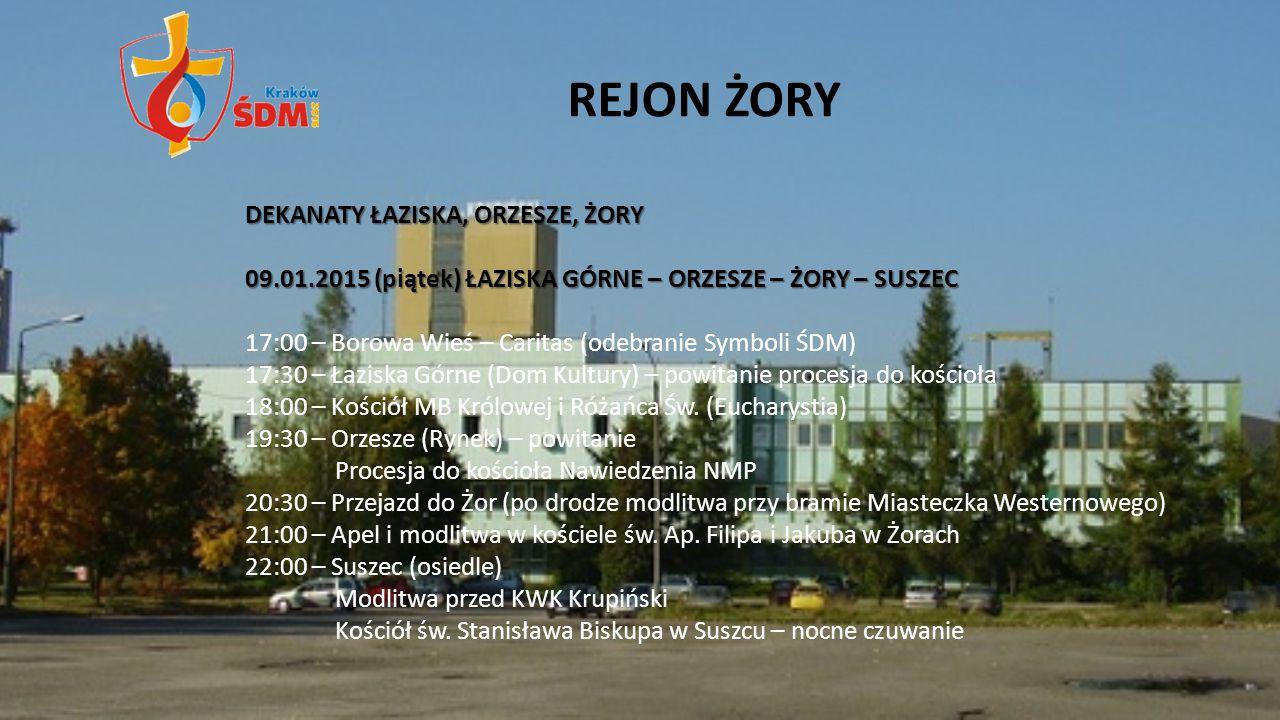 REJON ŻORY DEKANATY ŁAZISKA, ORZESZE, ŻORY