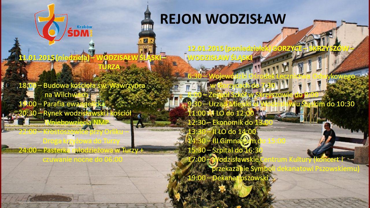 REJON WODZISŁAW 12.01.2015 (poniedziałek) GORZYCE – SKRZYSZÓW – WODZISŁAW ŚLĄSKI.