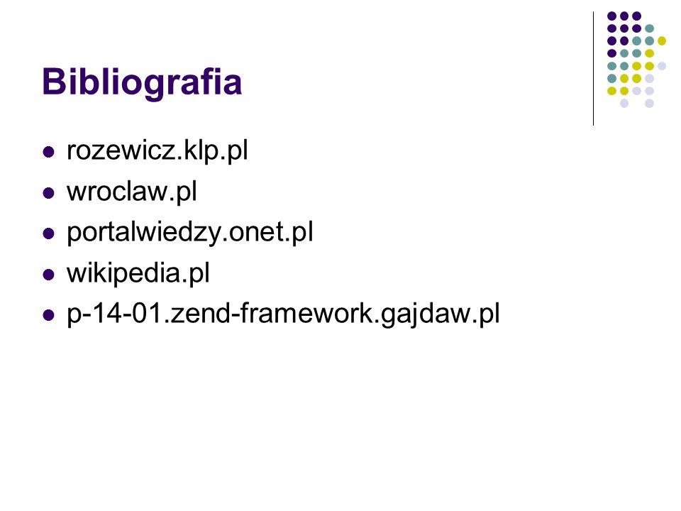 Bibliografia rozewicz.klp.pl wroclaw.pl portalwiedzy.onet.pl