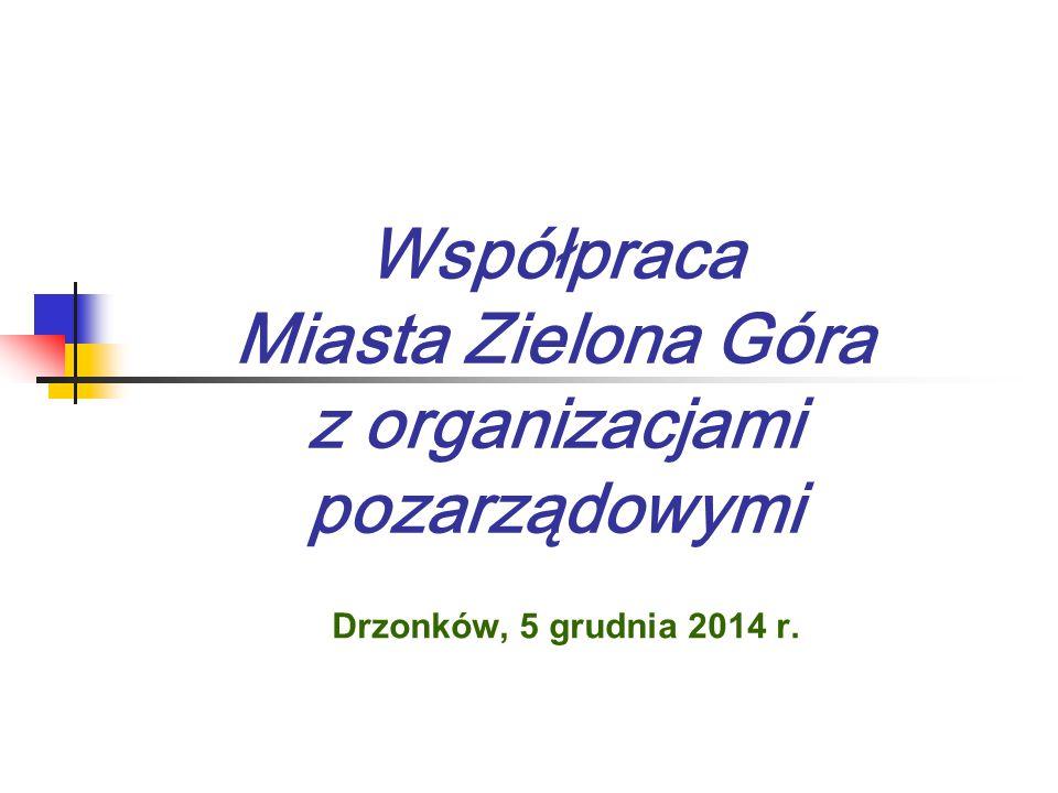 Współpraca Miasta Zielona Góra z organizacjami pozarządowymi