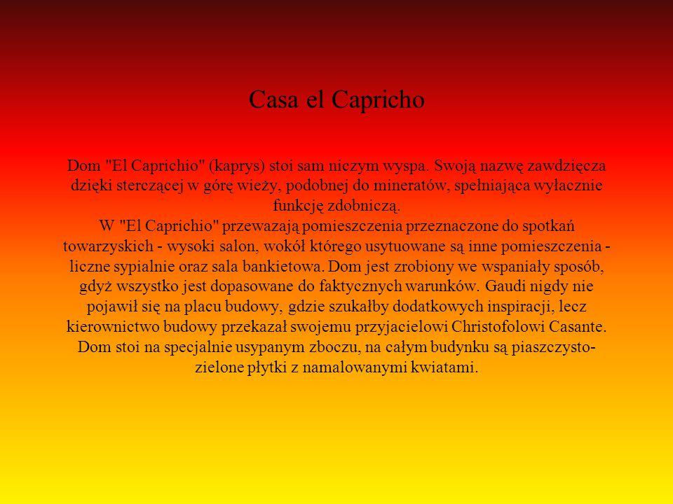 Casa el Capricho Dom El Caprichio (kaprys) stoi sam niczym wyspa