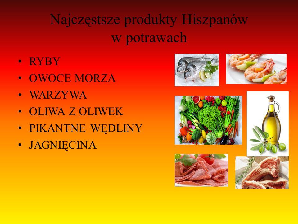 Najczęstsze produkty Hiszpanów w potrawach