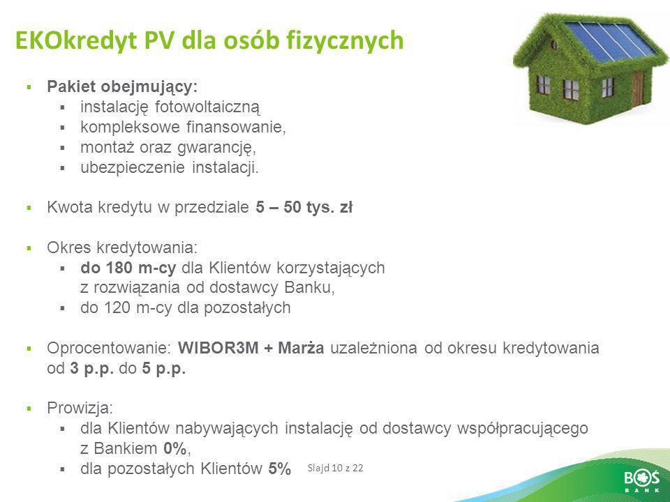 EKOkredyt PV dla osób fizycznych