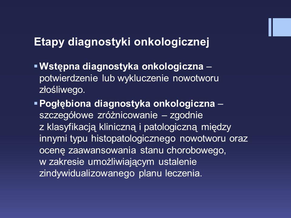 Etapy diagnostyki onkologicznej