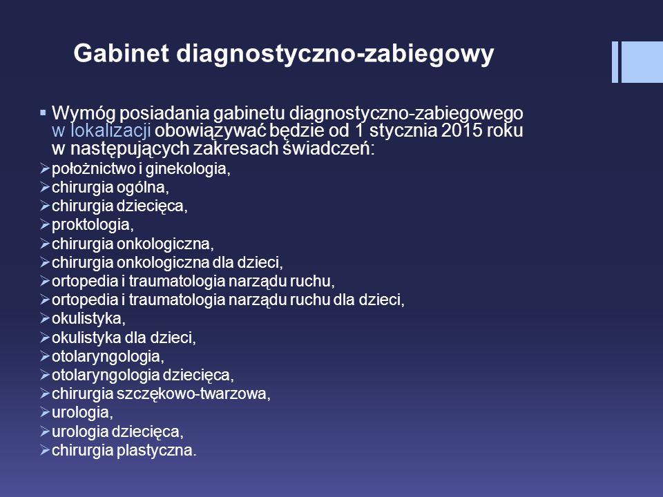 Gabinet diagnostyczno-zabiegowy