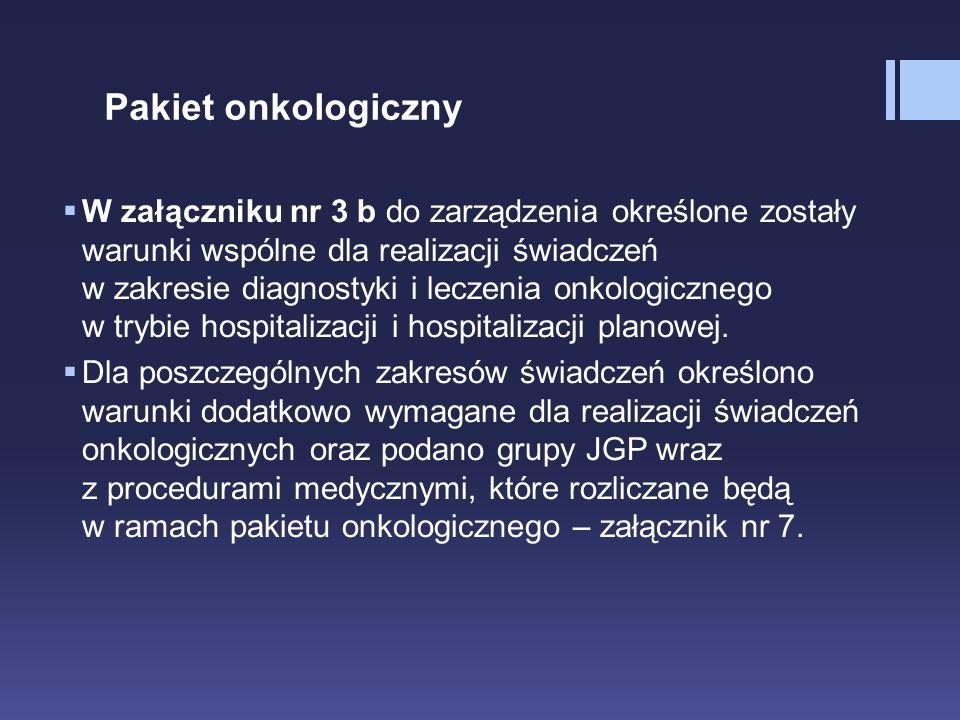 Pakiet onkologiczny