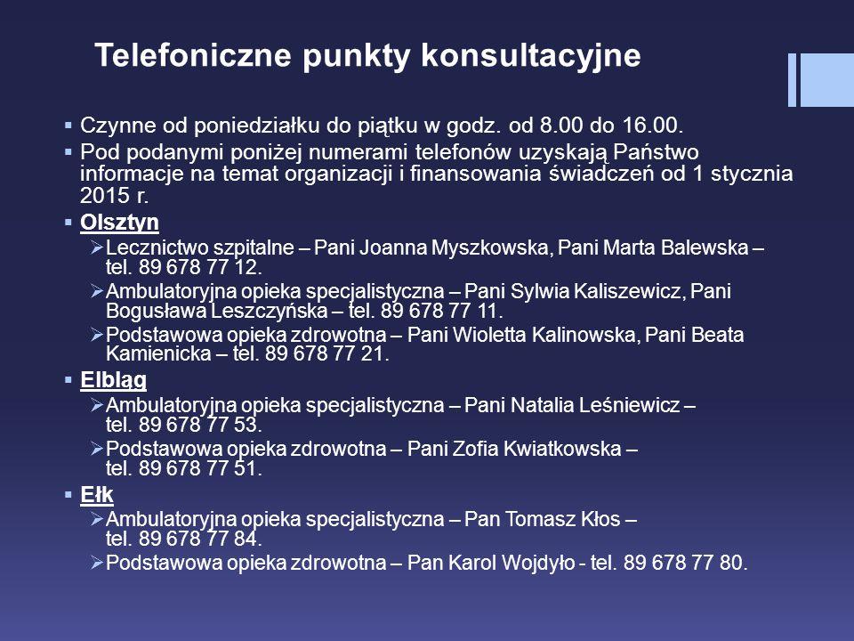 Telefoniczne punkty konsultacyjne